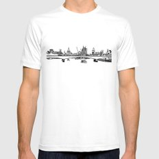 London Black and White MEDIUM Mens Fitted Tee White