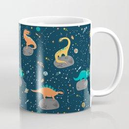 Dinosaurs Floating on an Asteroid Coffee Mug