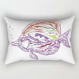 Purple Tropical Fish Rectangular Pillow