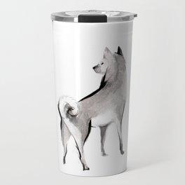 Cinnamon roll of Shiba Inu Travel Mug