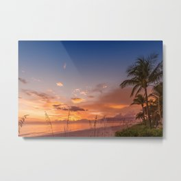 BONITA BEACH Romantic Sunset Metal Print