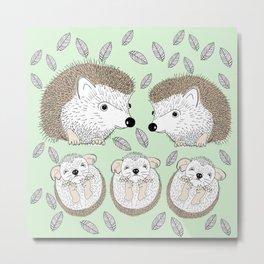 Hedgehogs Metal Print