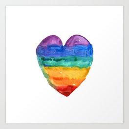 rainbow love Art Print