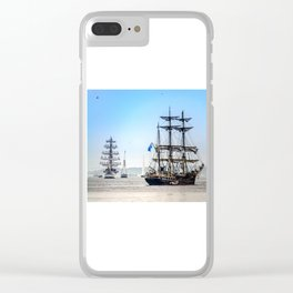 Majestic sailing view, Boston MA Clear iPhone Case