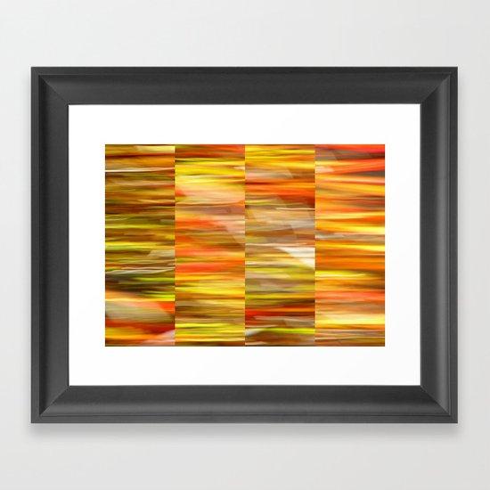 Saffron - Polyptych Framed Art Print