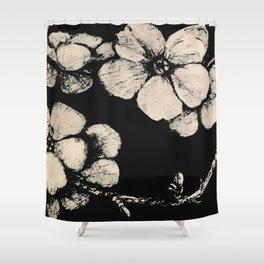 Blossom big black & white Shower Curtain
