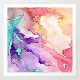 Color My World Watercolor Abstract Painting Art Print