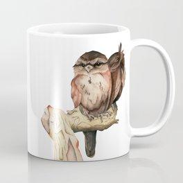 Owl Siblings Watercolor Painting Coffee Mug