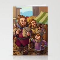 nori Stationery Cards featuring Brothers Ri Market Day by Hattie Hedgehog