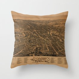 Aerial View of Dover, New Hampshire (1888) Throw Pillow