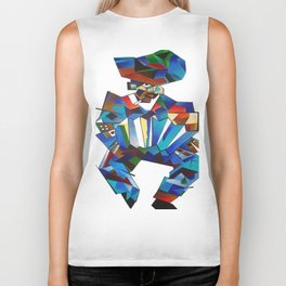 Accordion Player In Cubist Style Biker Tank