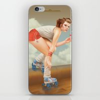 pinup iPhone & iPod Skins featuring Pinup by Morgan Soto