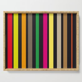 bold stripes and color Serving Tray