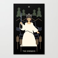 tarot Canvas Prints featuring Tarot: Empress by Merlin