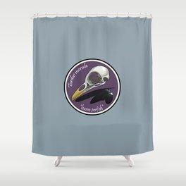 Turdus merula Shower Curtain