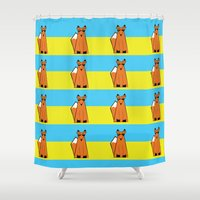mr fox Shower Curtains featuring Mr Fox by RoyaleWithCheese