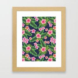 Ibiscus Love Framed Art Print