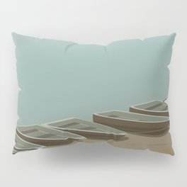 Boats on the shore Pillow Sham