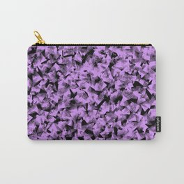 abstract lilac purple geometrical shapes against black background design Carry-All Pouch