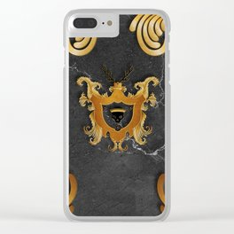 House of Gold and Marble Clear iPhone Case