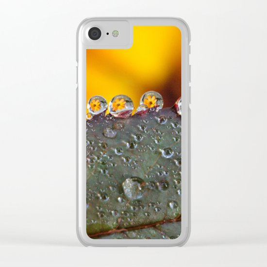 dew drops Clear iPhone Case