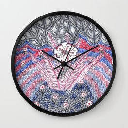 Abstract Flower Field Wall Clock