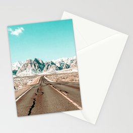 Vintage Desert Road // Winter Storm Red Rock Canyon Las Vegas Nature Scenery View Stationery Cards