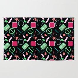 Contraception Pattern (Black) Rug