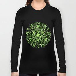 Mandala Trinity green Emerald Peridot Long Sleeve T-shirt
