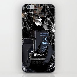 Broken Damaged Cracked out handphone iPhone iPhone Skin