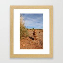 Stacked Rocks in Moab Framed Art Print