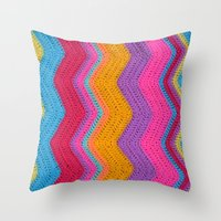 funky Throw Pillows featuring Funky by Wild Daffodil