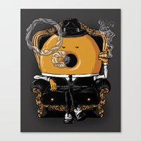 gangster Canvas Prints featuring Gangster Donut by Javier Ramos