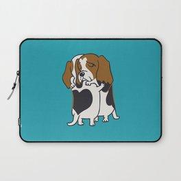 Basset Hound Hugs Laptop Sleeve