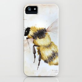 Bumble bee watercolor iPhone Case