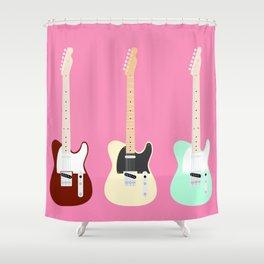 Flat Telecaster 3 Shower Curtain
