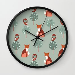 Fox Woods Wall Clock