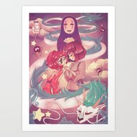 spirited away Art Prints featuring Spirited Away  by SweetOwls