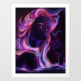 Blacklight Babe Art Print
