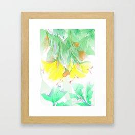 Yellow Floral  Framed Art Print