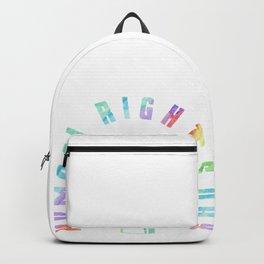 Human Rights Day Gay Lesbian Homo CSD Gift Backpack