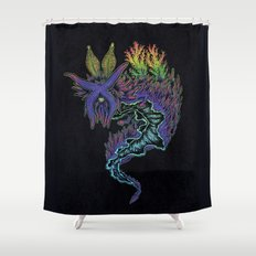 Sea Slug Shaman Shower Curtain