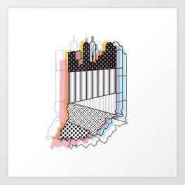 Indy Skyline Art Print