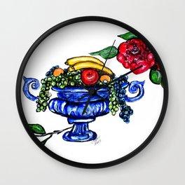 Classic Fruit Bowl Digital Enhanced Wall Clock