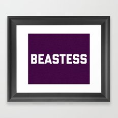 Beastess Gym Quote Framed Art Print