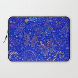 Blue Spring Butterfly Pattern Laptop Sleeve