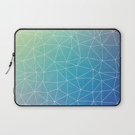Abstract Blue Geometric Triangulated Design Laptop Sleeve