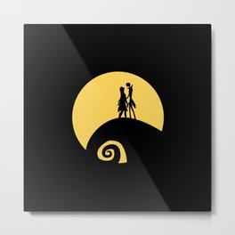 Jack and Sally Metal Print