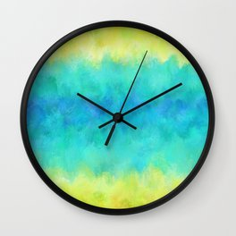 Sunflower and Ice Abstract Wall Clock