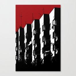 Dark Buildings in Belgrade Canvas Print
